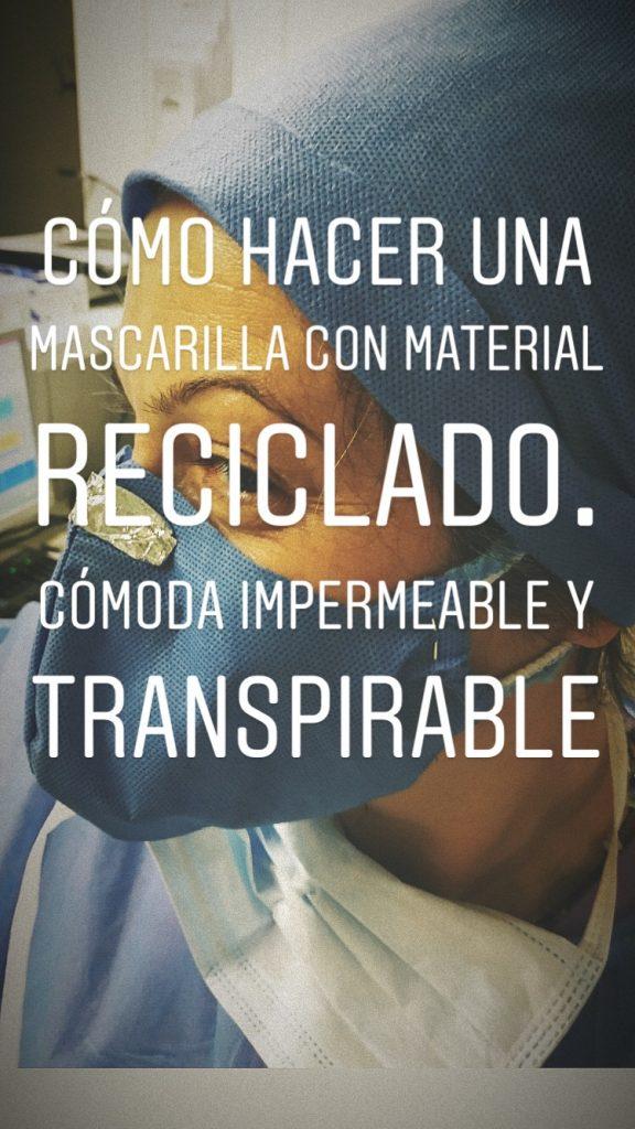 cómo hacer mascarilla con material reciclado